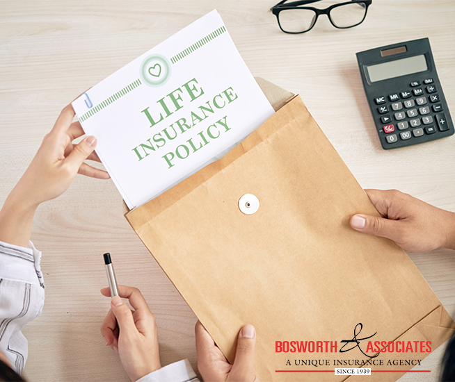 Life Insurance Policy from Bosworth and Associates Insurance Agency from Tyler Texas