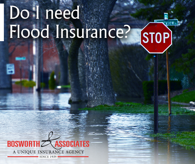 Flood insurance policy from Bosworth and Associates Insurance Agency from Tyler Texas